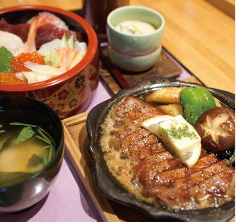 赤松街道奴寿司の牛ロースステーキ