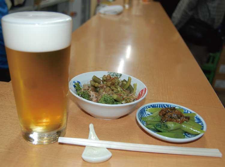 丸善瀧澤商店の食事とビール