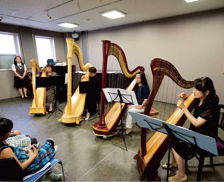 ヤマハミュージックアベニュー五稜郭のハープ講座