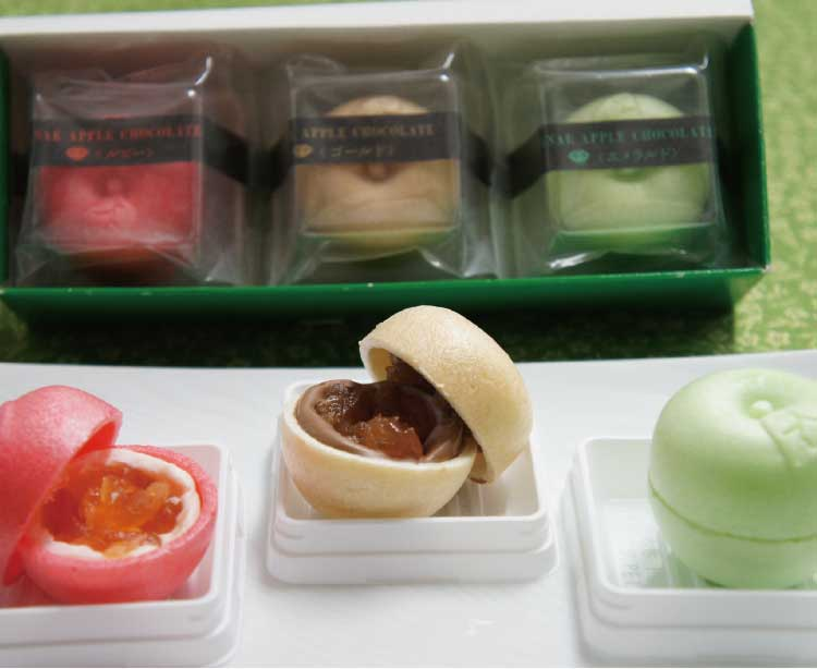 喜夢良の七飯アップルチョコレート