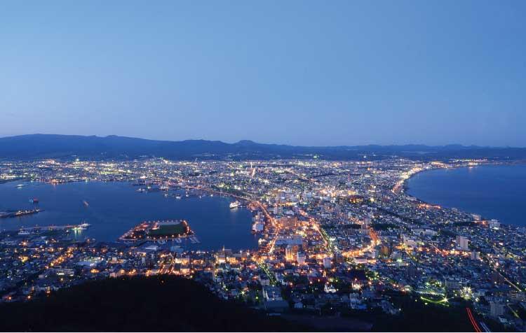 函館山から見える函館の夜景