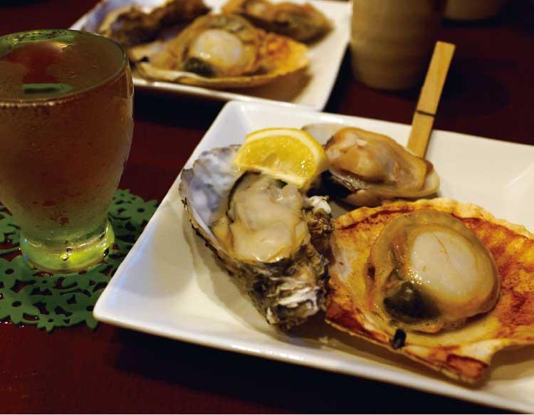 shell barきさらぎの貝3種焼き