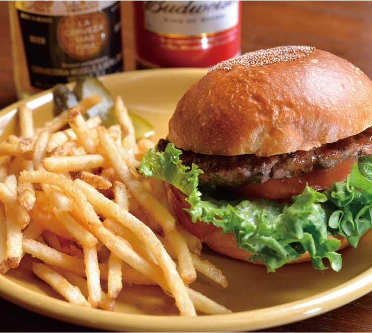 ハンバーガーショップホットボックスのハンバーガー