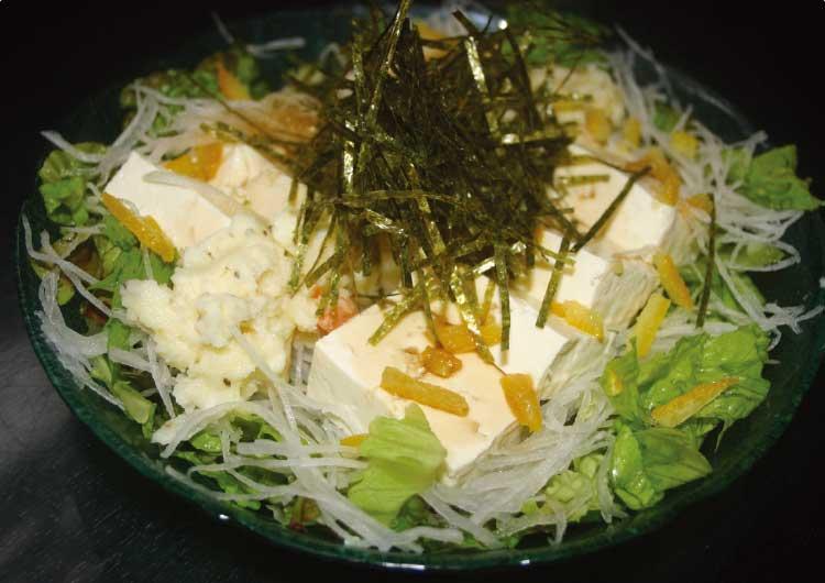 月夜のうさぎの豆腐サラダ・柚子味