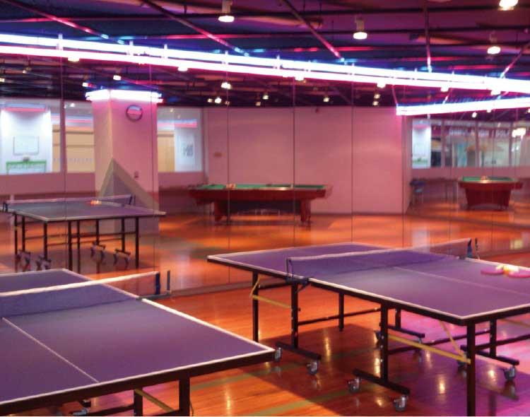 ホテルリソル函館の卓球場