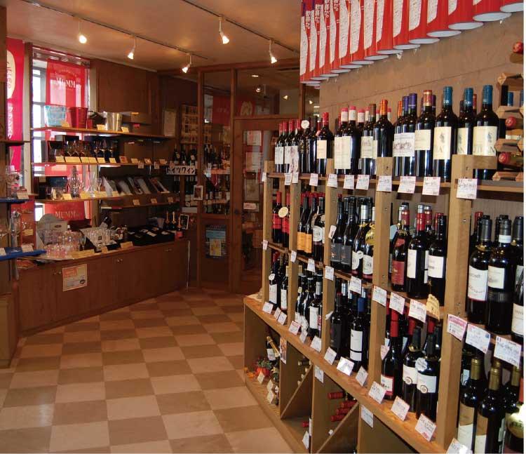 地酒・ワイン屋 みのや店内