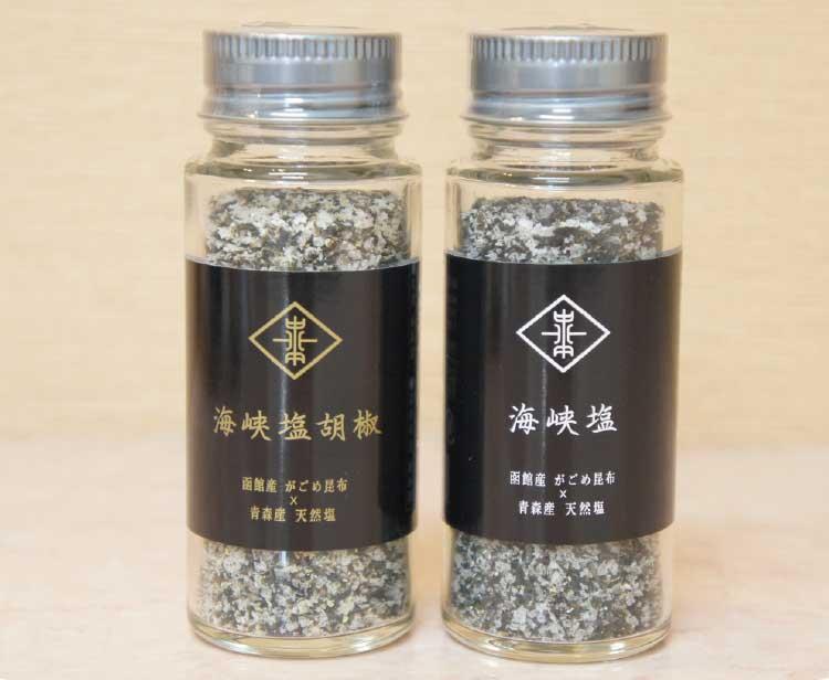 株式会社医食同源の海峡塩と海峡塩胡椒