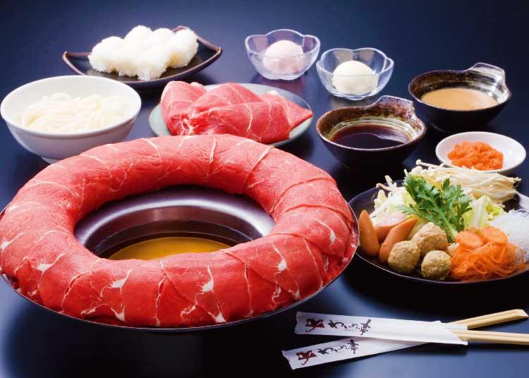 わいわい亭の黒毛和牛食べ放題コースの料理