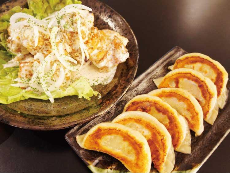 函館500円Bar・GRACEのクリーミーザンギと「天のびろく餃子」