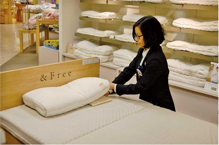 丸井今井函館店5階寝具 オーダー枕