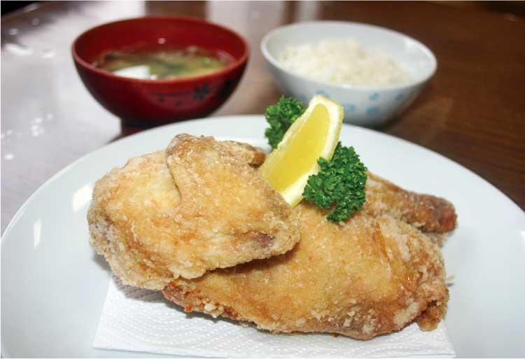 グリル塩豚 鶏の半身揚げ