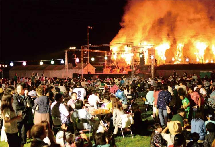 上ノ国町、エゾ地の火まつり