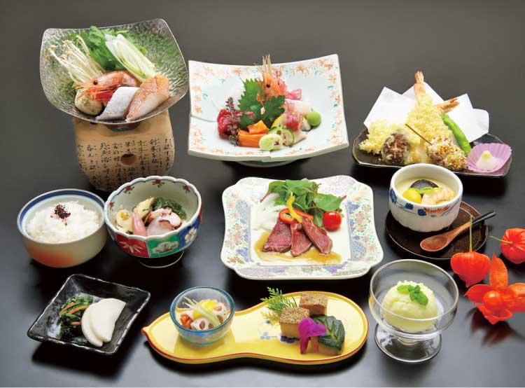 函館湯の川温泉 ホテル河畔亭 宴会プラン料理
