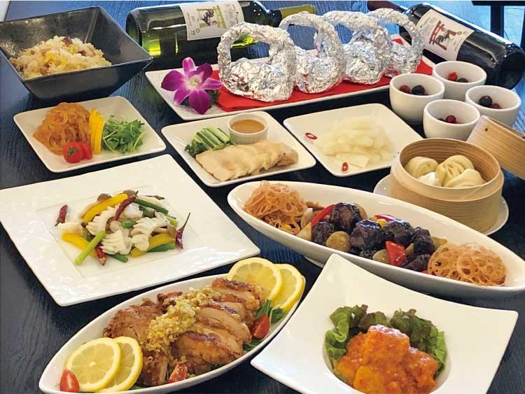 料理人が自慢の中華9品を心ゆくまで楽しめる120分飲み放題付き5000円(税込)のコース